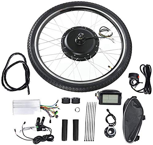 ZLM Elektrisches Fahrrad E-Bike Umrüstsätze Bike Conversion Kit Naben-Motor Kit 26in Rad E-Bike Conversion 6V 500W Mit LCD-Meter,Front Drive