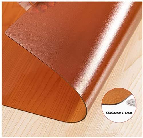Estera de tabla de PVC PVC Transparente Alfombrilla Protectora for Suelo, Piso Alfombrado Película Protectora, Impermeable Oficina Cojín De Mesa Y Silla Fácil De Limpiar 20 Tamaños,2mm,70x130cm qiuliy