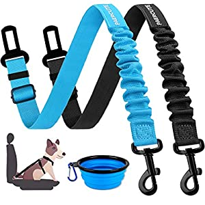 Dog Seat Belt,2 Pack Pet Car Seat Belts Adjustable Heavy Duty & Elastic Vehicle Dog Safety Belt Harness for Travel Daily Use – Compatible with Any Pet Harness