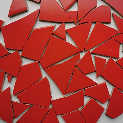 Fliesenbruch frostfest Verschiedene Mixe Mosaik Bruchfliesen (1.0, rot K459)