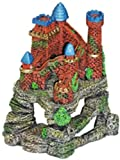 Exotic Environments Castle Fortress Cavern Aquarium Ornament, 6-Inch by 5-Inch by 7-Inch