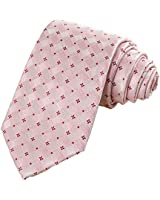 KissTies Petal Pink Tie Mens Floral Necktie Wedding Ties + Gift Box