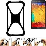 K-S-Trade® Handyhülle Für Samsung Galaxy Note 3 Neo 3G Schutz Hülle Silikon Bumper Cover Case Silikoncase TPU Softcase Schutzhülle Smartphone Stoßschutz, Schwarz (1x),