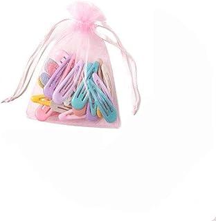JaneDream 40 PCS Colorful Hairclips Set Cute Snap Pins Set BB Clip Barrettes Set (With Storage Bag) Light Color