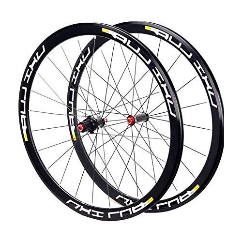 MZPWJD Paire Roues Vélo Route 700c Vélo Course Alliage Double Paroi Jante 40mm 8-11 Vitesses 7...