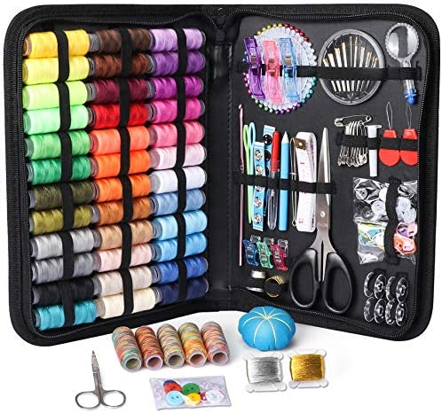 Large Sewing Kit 218 Pcs Premium Sewing Supplies Anti Scratch Durable 600D Oxford Fabric Sewing product image
