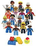 Kidtoy Community Figures for All Preschool Building Blocks, Compatible with All Major Brands…(16 PC Play Set)