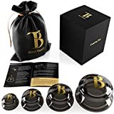 Cupping Therapy Set - Cellulite Cups - Vacuum Massager for Suction Massage - Silicone Chinese Anti Aging Facial and Body Set - Cellulite Remover for Women - Anti Cellulite Cupping Kit (Graphite Black)