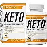 Bone and Oak Keto Diet Pills | Apple Cider Vinegar | Best Exogenous Supplement Utilize Fat for Energy | Boost Metabolism | Advanced Ketogenic Carb Absorption for Women & Men | Ultra Fast Ketosis