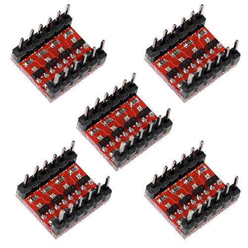 Anmbest 5PCS 4 Chanels High Speed Bi-Directional 3.3V-5V Logic Level Converter for Arduino Raspberry Pi Electronic Development