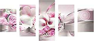 SuperDecor Diamond Painting Embroidery Full Drill Diamond Painting for Adults 5 Panels Pink Rose and White Calla Pink White
