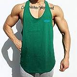 LILONGXI Hombres Camiseta clásica,los Deportes Masculinos de Chaleco sin Mangas de algodón Impresión Stringer Chaleco para Gimnasio Fitness musculación ejecutando Playa