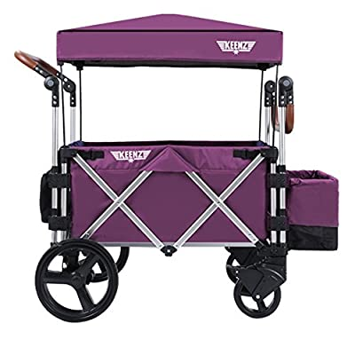 Keenz Stroller Wagon – 7S Pull/Push Wagon Stroller – Safe and Secure Baby Wagon Stroller and Stroller for Big Kids – Versatile Wagon Stroller Ideal for Special Needs, Purple