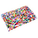 Holibanna 1000Pcs 1. 5Cm Pompones Surtidos Artesanías Creativas Multicolores Manualidades Bola de Peluche Diy Hobby Suministros Decoraciones para Niños de Disfraces Niños (Colorido)