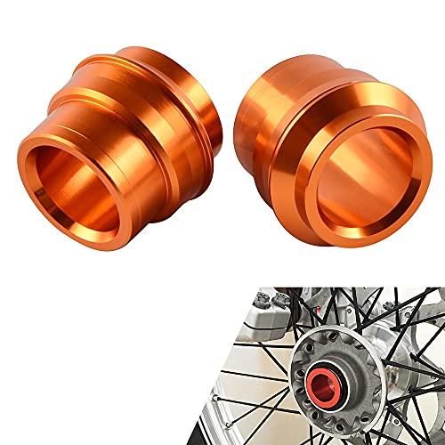 CHENWEI- Kit de Espaciador del hub de la Rueda Delantera para KTM SX SXF EXCX XC XCF XCW XCFW 125 150 200 250 300 350 400 450 500 2016-2021 para Husqvarna (Color : Orange)