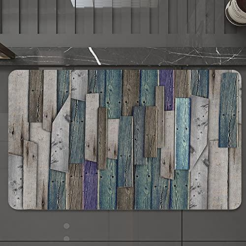 Alfombrilla de Baño Antideslizantes de 50X80 cm,Juego de madera, tablones rústicos Grunge gr, Tapete para el Piso Lavable a Máquina con Microfibras Suaves Absorbentes de Agua para Bañera, Ducha y Baño