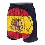 KLKLK Bandera de España Fútbol Fútbol11 Bañador para Adolescentes Chicos Niñas Bañador con cordón