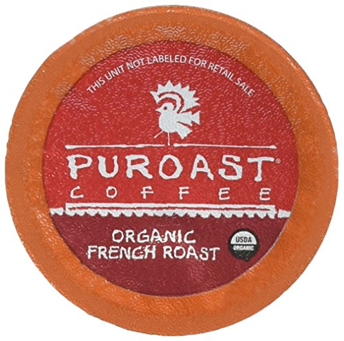 Puroast Low Acid Coffee Single-Serve Pods, Organic French Roast, High Antioxidant, Compatible with Keurig 2.0 Coffee Makers (12 Count)