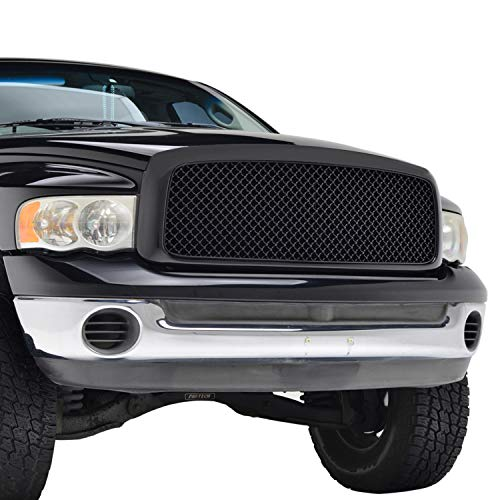 EAG Replacement Upper Grille Front Hood Mesh Grill Fit for 02-05 Dodge Ram 1500/03-05 Dodge Ram 2500 3500 Heavy Duty
