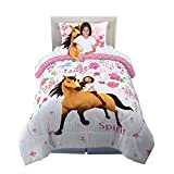 Franco Kids Bedding Super Soft Comforter with Sheets and Cuddle Pillow Bedroom Set, 5 Piece Twin Size, Spirit Riding Free