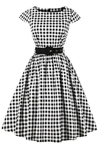 abito donna quadretti Axoe Audrey Hepburn - Abito vintage anni '50