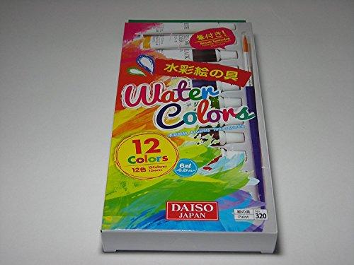 12 Colors Tubes of Watercolor Paints Sets w/ Brush 6ml 0.2oz