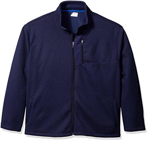 IZOD Men's Big and Tall Shaker Fleece Jacket, Peacoat, 2X-Large Tall