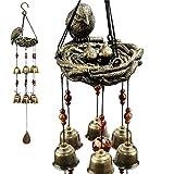 monsiter campane tubolari vento chimes con le campane di cooper per la decorazione interna ed esterna - nido dell'uccello