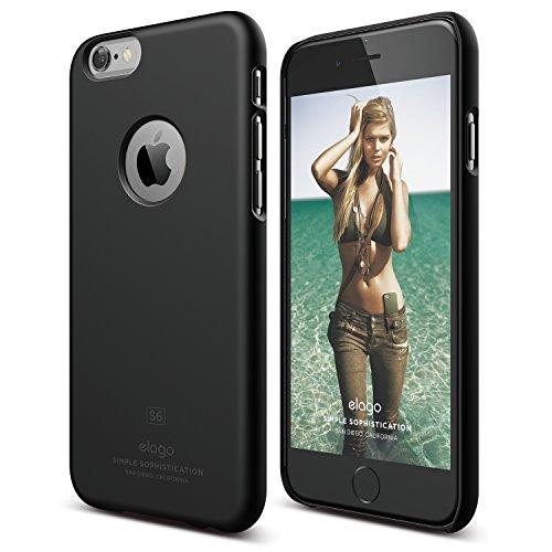 iPhone 6S Case, elago [Slim Fit][Soft Feel Black] - [Light][Minimalistic][True Fit] – for iPhone 6/6S