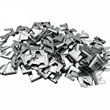 300 pcs Wire Cage Buckle Clips Poultry Chicken Quail Pigeon Rabbit Pet Cat Cage Building Assembly Kit Cage Snap Clip Clamp (clip)