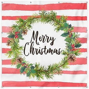 Holiday Decor Festive Tree Wind-Resistant Outdoor Mesh Vinyl Banner 4x8 CGSignLab