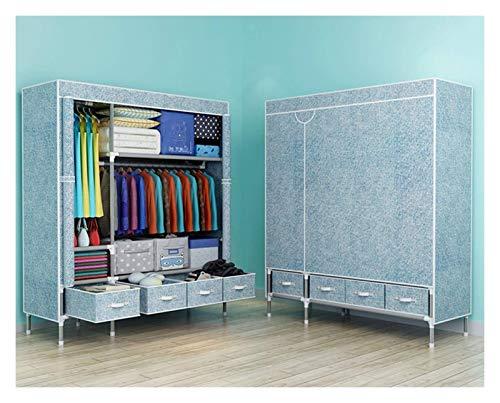 Macro Kleiderschrank Einfache Tuch Tragbare Schrank Organizer Verstärkte Röhre Vlies Falten Multifunktionsleiste Kleiderschrank mit Aufbewahrungsbox