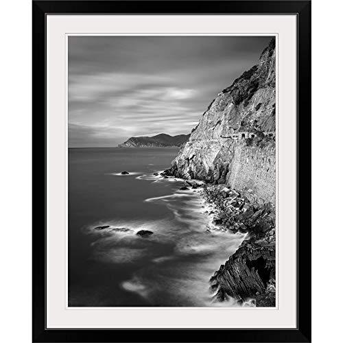GREATBIGCANVAS Cinque Terre, Italy Black Framed Wall Art Print18 x24 x1