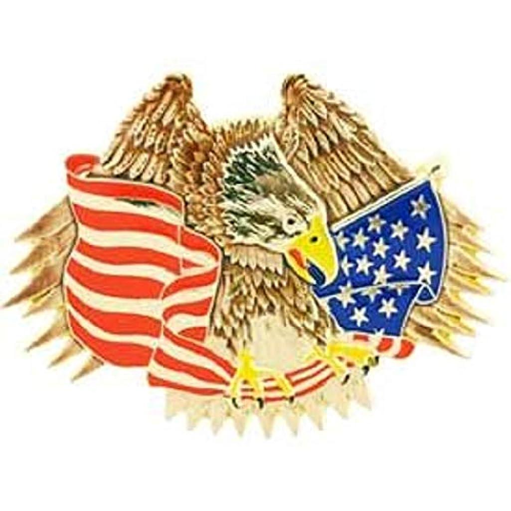 EagleEmblems B0188 Buckle-USA,Eagle and Flag (3.5'')
