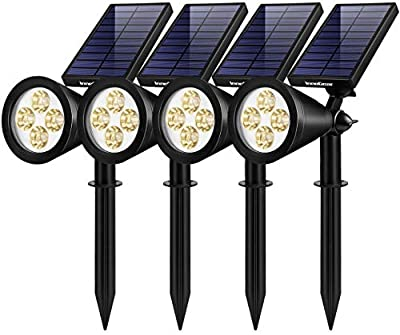 InnoGear Solar Lights Outdoor, Upgraded Waterproof Solar Powered Landscape Spotlights 2-in-1 Wall Light Decorative Lighting Auto On/Off for Pathway Garden Patio Yard Driveway Pool, Pack of 4 (Warm)
