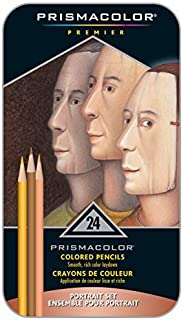 Prismacolor Premier彩色鉛筆,Sanford 25085R,肖像套裝,軟芯,24支