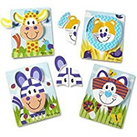 4-Pack Melissa & Doug First Play Wooden Chunky Jigsaw Puzzle Set