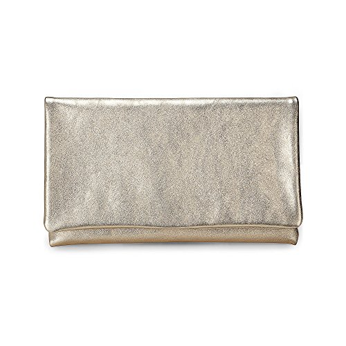Abro Damen Metallic-Clutch Gold Leder 1