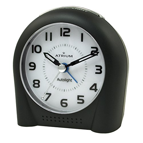 ATRIUM alarm analoog zwart sensorgestuurd nachtlampje (Autolight) en snooze zonder tikken A450-7