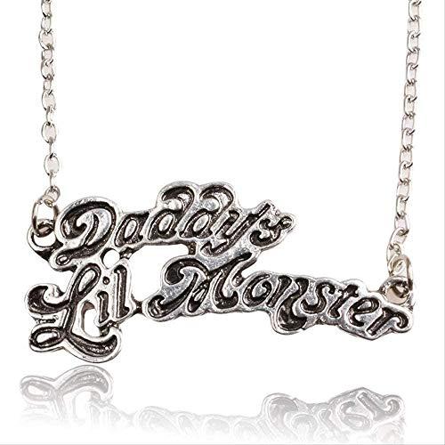 Yiffshunl Collar Mujer Collar Suicide Squad Harley Quinn Collar Colgante Collar