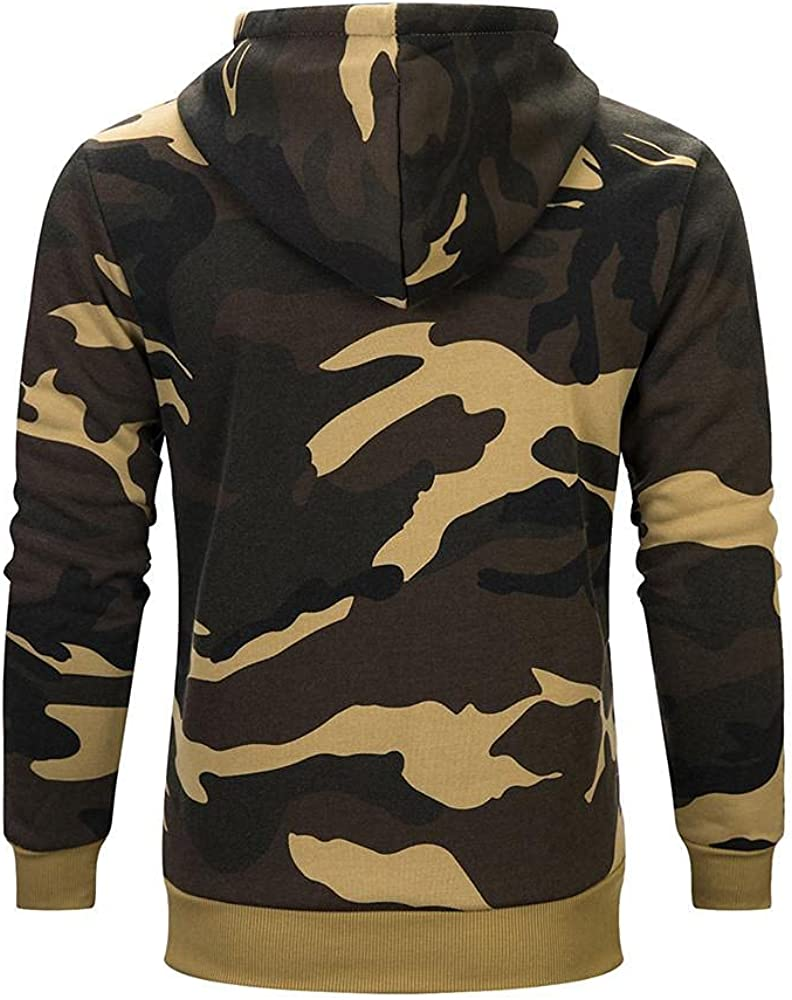 Hoodies for Men Autumn Winter Camouflage Pattern Pullover Long Sleeve Leisure Men's Fashion Hoodies And Sweatshirt