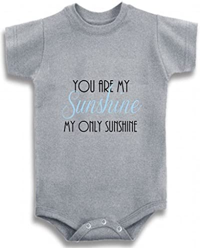 Baby Tee Time Gray Crew Neck Baby Boys You are My Sunshine One Piece 6 12 Months product image