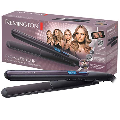 Remington S6505 Pro Sleek & Curl - Plancha de Pelo, Cer�