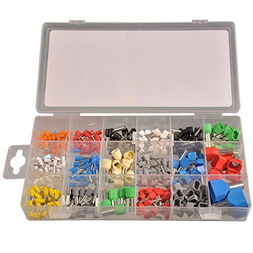 300piezas surtido terminales 0,5–16mm² aislado individualmente + Twin en caja de plástico