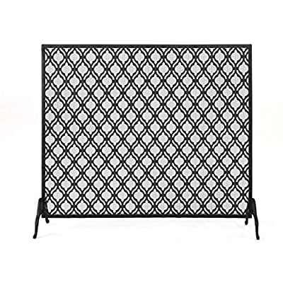 Christopher Knight Home Elmer Single Panel Iron Fireplace Screen, Black from Christopher Knight Home