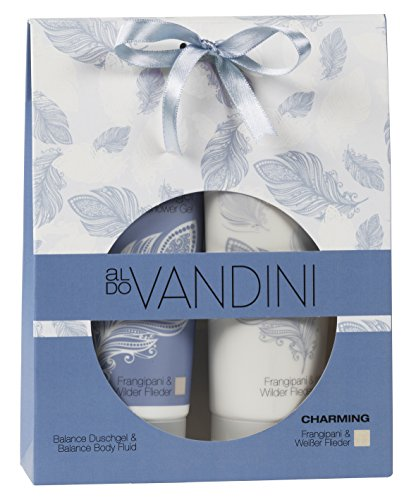 aldoVANDINI CHARMING Favorite Geschenkset Damen, Lotion 200ml  & Duschgel 200ml, vegan, 1er Pack (1 x 1 Set)