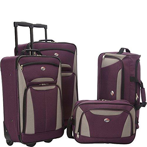 American Tourister Fieldbrook II Softside Upright Luggage Set, Purple/Grey, Carry-On 21-Inch