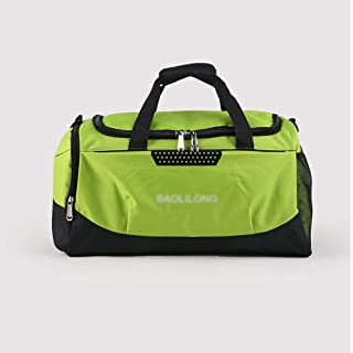 Foldable Lightweight Duffle Bag, Carry Tote Bag, Waterproof and Tear Resistant, Gym Bag, Travel Luggage Bag, with Adjustable Shoulder Strap (Color : Green)