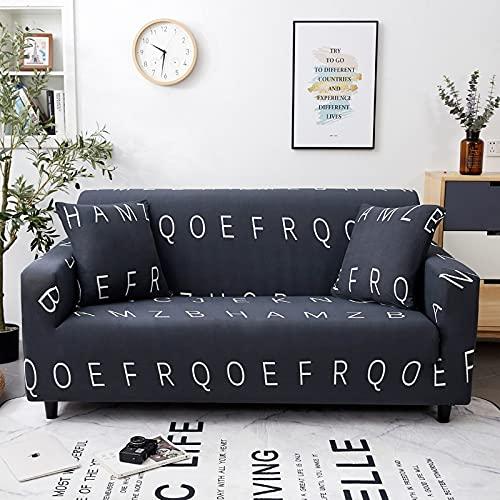 WXQY Funda de sofá Antideslizante de Tela Escocesa elástica Funda reclinable para Sala de Estar, Funda de sillón con patrón geométrico Funda de sofá A5 2 plazas