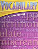 Great Source Vocabulary for Achievement: Fourth Course Package of 5 Grade 10 1998